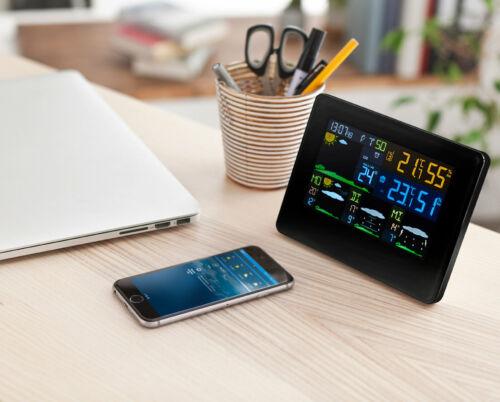 Wetterstation WiFi farbiges Display mit kostenloser App Außen Innentemperatur