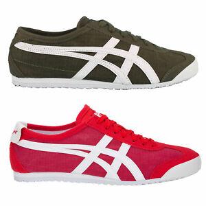 Details zu Onitsuka Tiger Mexico 66 Damen Sneaker Stoff asics Textil Schuhe Halbschuhe NEU