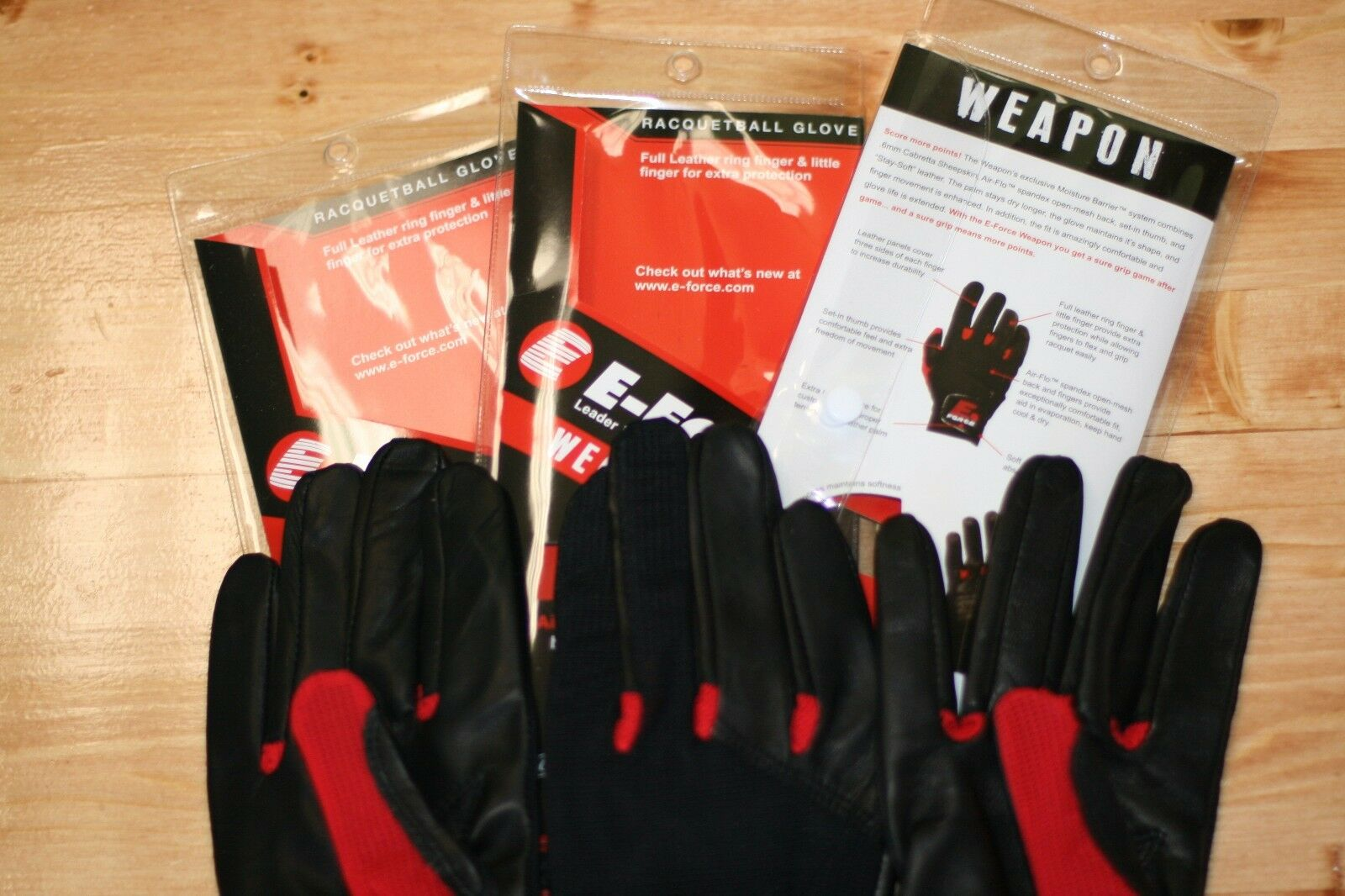 E-Force EFORCE e Force Racquetball Guantes Guantes Guantes arma Color Rojo 3-Guante Mano Derecha S a1dca8