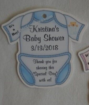 UNIQUE PERSONALIZED BABY SHOWER PARTY FAVOR TAGS / GIFT TAGS