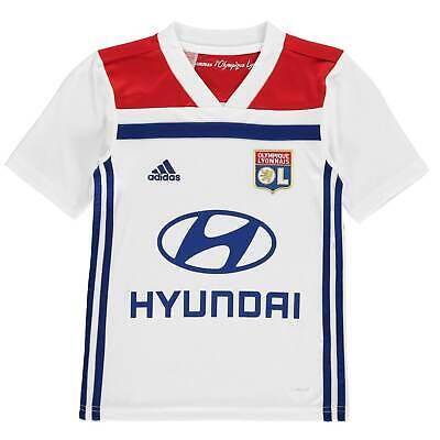 adidas Enfants Lyon 2018 2019 Maillot De Football Équipe Domicile Col En V   eBay