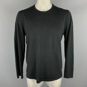 JOHN-VARVATOS-U-S-A-Size-XL-Black-Wool-Blend-Elbow-Patches-Pullover-Sweater
