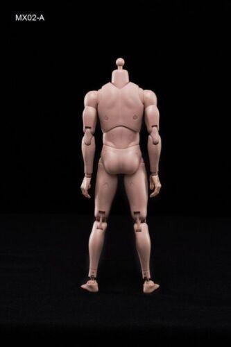 MX02-A 1//6 Scale 12/'/' Male Figure Body  Caucasian Skin Nude Narrow Shoulders USA