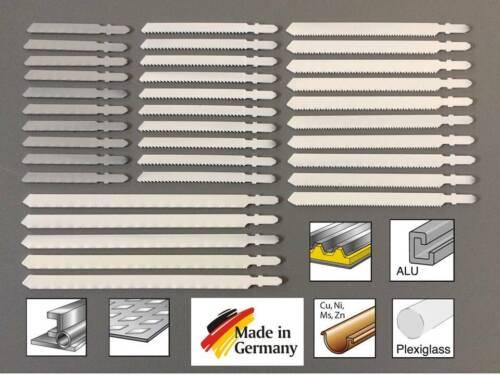 35 Stichsägeblätter T-Schaft Aufnahme für Stahl Alu Buntmetalle Plexiglas