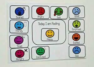 Emotions board  ~ Autism ~ASD~SEN~Childminder~Schools~+ How do I feel Today