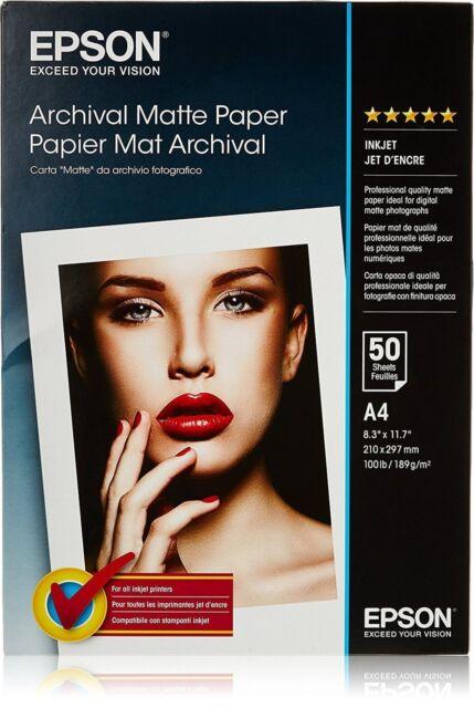 Epson C13S041342 S041342 Archival Matte Paper A4 189g/m² 50 Sheets