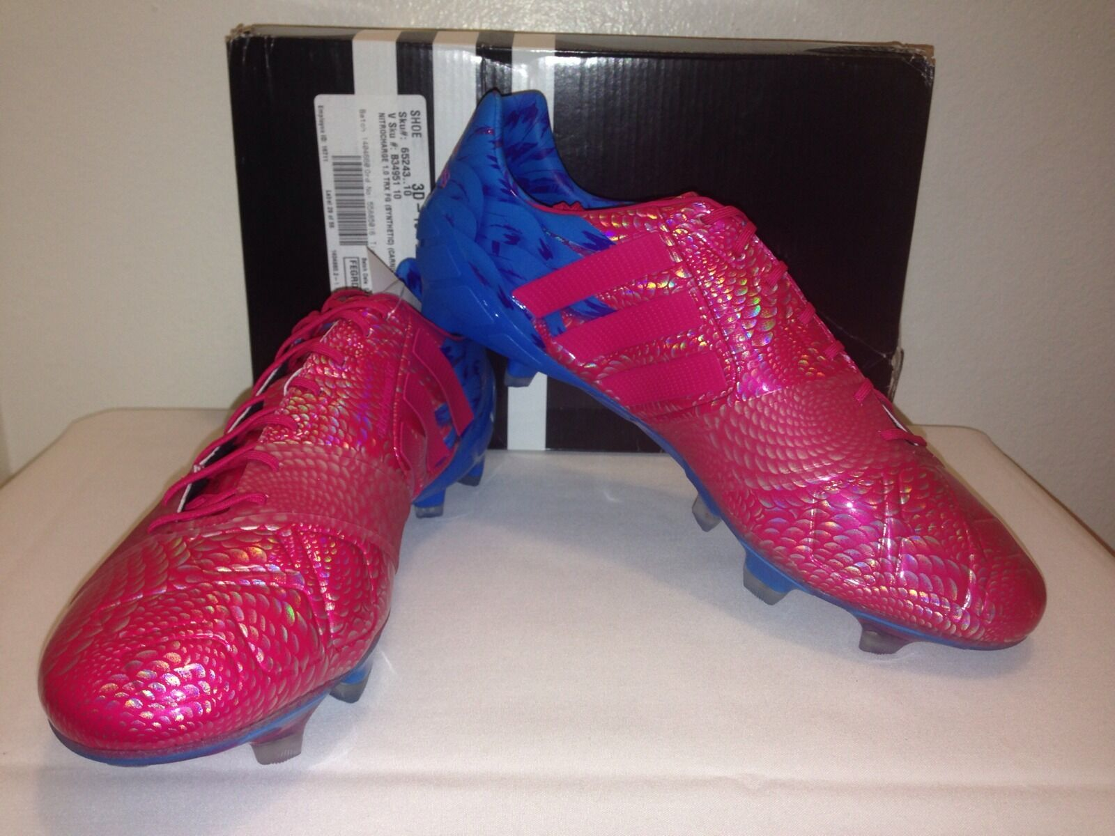 Adidas Nitrocharge 1.0 World Cup Limited Edition Carnaval FG Soccer Cleats Sz 10
