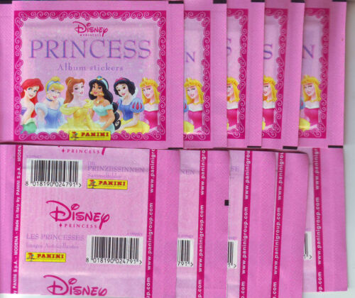 50 UNOPENED SEALED STICKERS DISNEY PRINCESS PANINI