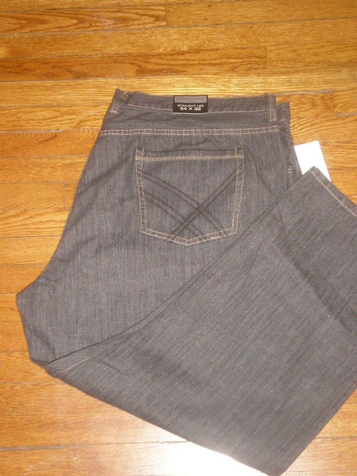 NWT KENNETH COLE SELECT STRAIGHT LEG JEANS SZ  54 X 32 RETAIL