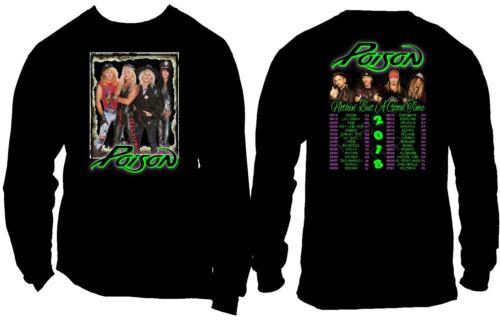 Sizes S Poison Shirt 1 Nothin But A Good Time Tour 2018 Concert T shirt 6X
