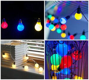 Funky Indoor String Lights : MULTI COLOUR LED FESTOON GLOBE BULB INDOOR OUTDOOR STRING CHRISTMAS FAIRY LIGHTS eBay