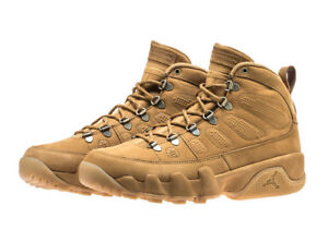 f3b9a59accc AIR JORDAN 9 IX RETRO BOOT NRG AR4491-700 Wheat Brown Men's Size NEW ...
