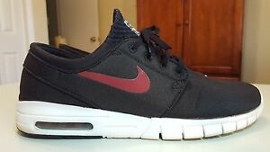 Nike STEFAN JANOSKI MAX 631303-060 Men's Skateboarding Shoes Size 11.5 Black