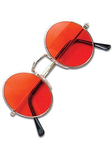 Orange Hippy Hippie 60s 70s John Lennon Round Ozzy Granny Fancy Dress Glasses