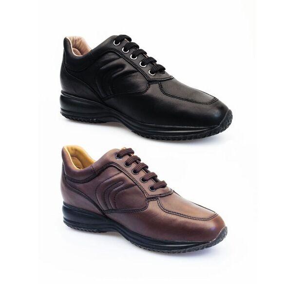 GEOX RESPIRA HAPPY U4356H scarpe uomo scarpe da ginnastica pelle stringhe interactive casual