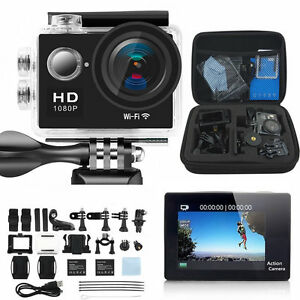 1080P HD Sports Camera WIFI Mini DV Carry Case Bundle Action Camcorder SJ4000-i