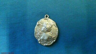 Schmuck Anhänger Amulett Frauenkopf Im Relief 19. Jahrhundert Exquisite (In) Verarbeitung