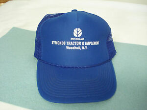 b0bd49085 Details about Retro NEW HOLLAND TRACTOR Symonds Woodhull, NY Royal Blue  Snapback Cap Hat NOS