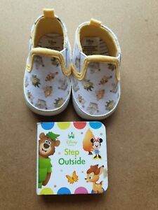 DISNEY Baby a Primark IL LIBRO DELLA GIUNGLA Scarpe per bambino, 3 - 6 mesi. con libro.