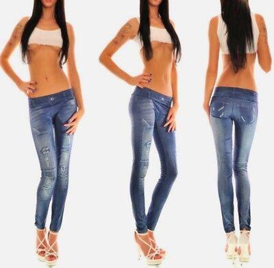 Women Skinny Geometric Print Colorful Slim Pants Leggings Trousers Stretch