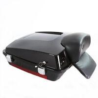 Black Trunk For Harley Davision Razor Tour Pak Pack Road King Electra Glide
