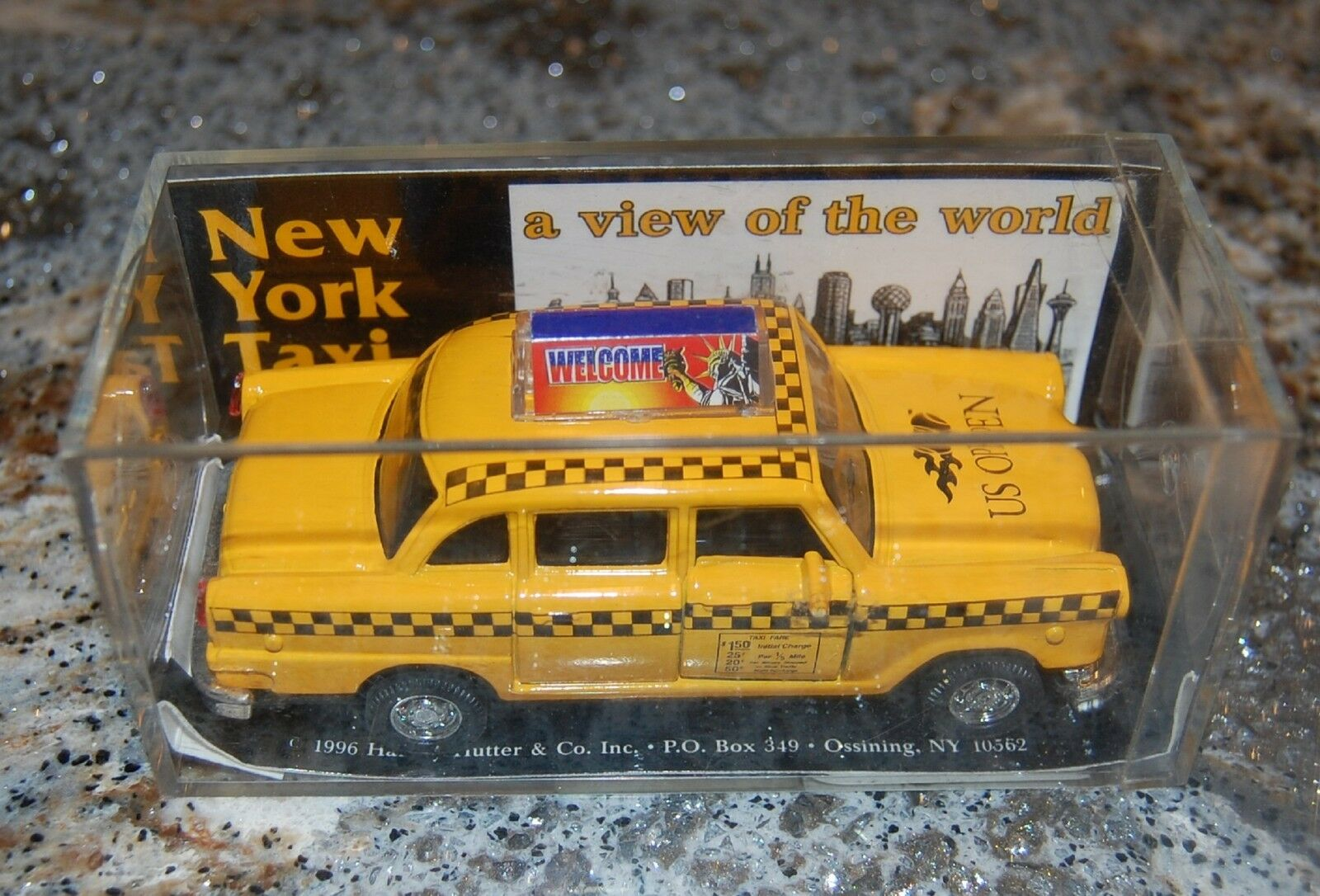 Officially Licensed US Open New York Taxt Die Cast Model Car 1 43rd NOS In Box