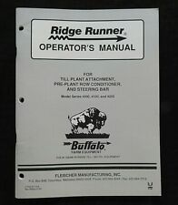 Buffalo 4000 4100 4200 Planter Till Plant Attachment Operators Manual Nice