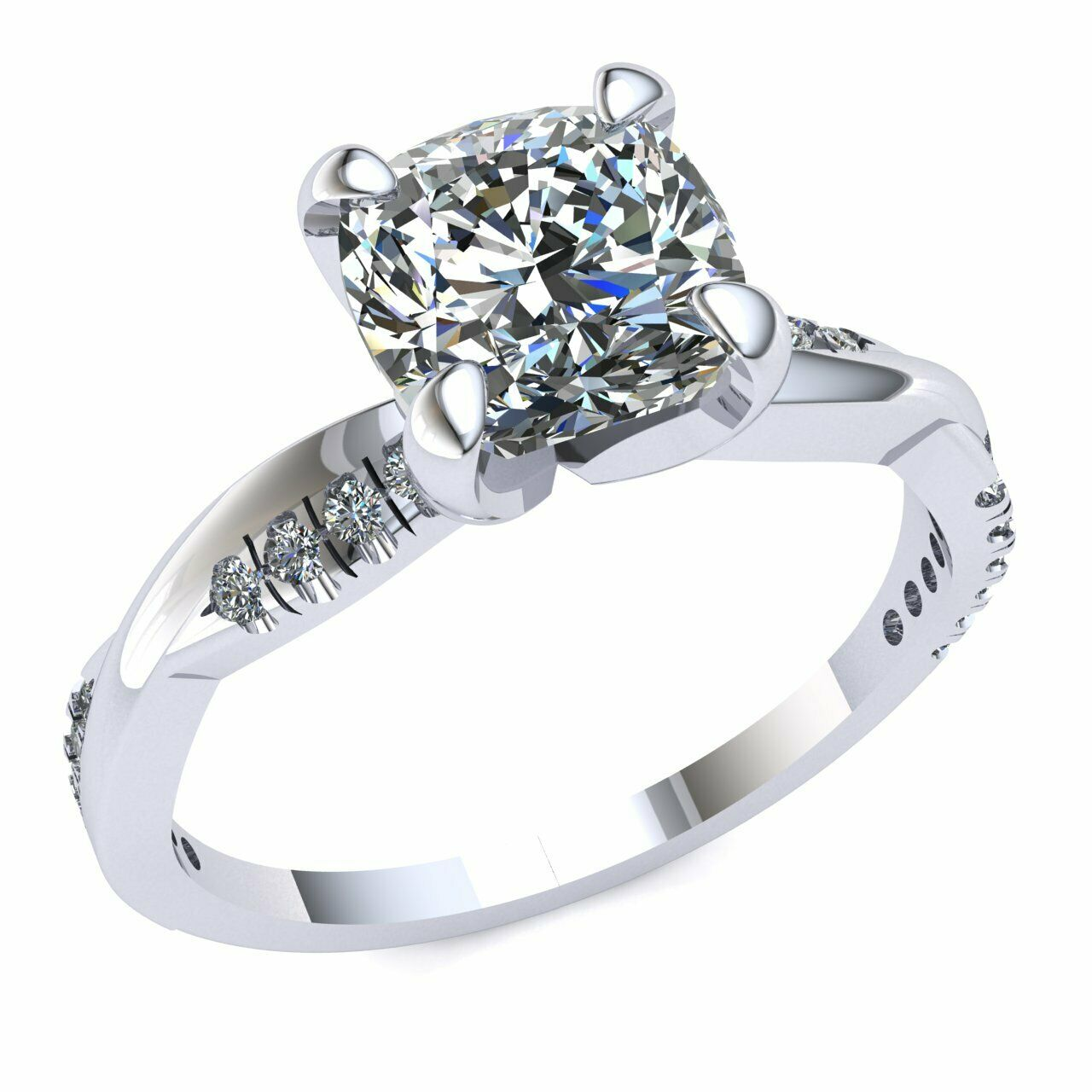 Diamond Bridal Solitaire Bridal 0.75ct Diamond Engagement Ring Solid 14k gold