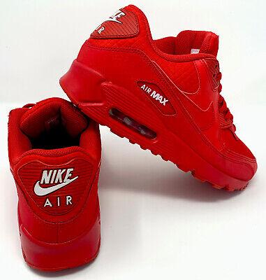 Essential Nike Air Max 90 Triple Red Size 9.5 | eBay