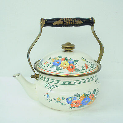 Vintage Knobs Confection Teapot and Flowers