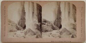 Niagara Falls Great Icicle US USA Foto Stereo Vintage Albumina