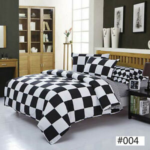 Black-amp-White-NEW-Single-Queen-King-Sizes-Bed-Quilt-Duvet-Cover-Bed-Set-Comfy