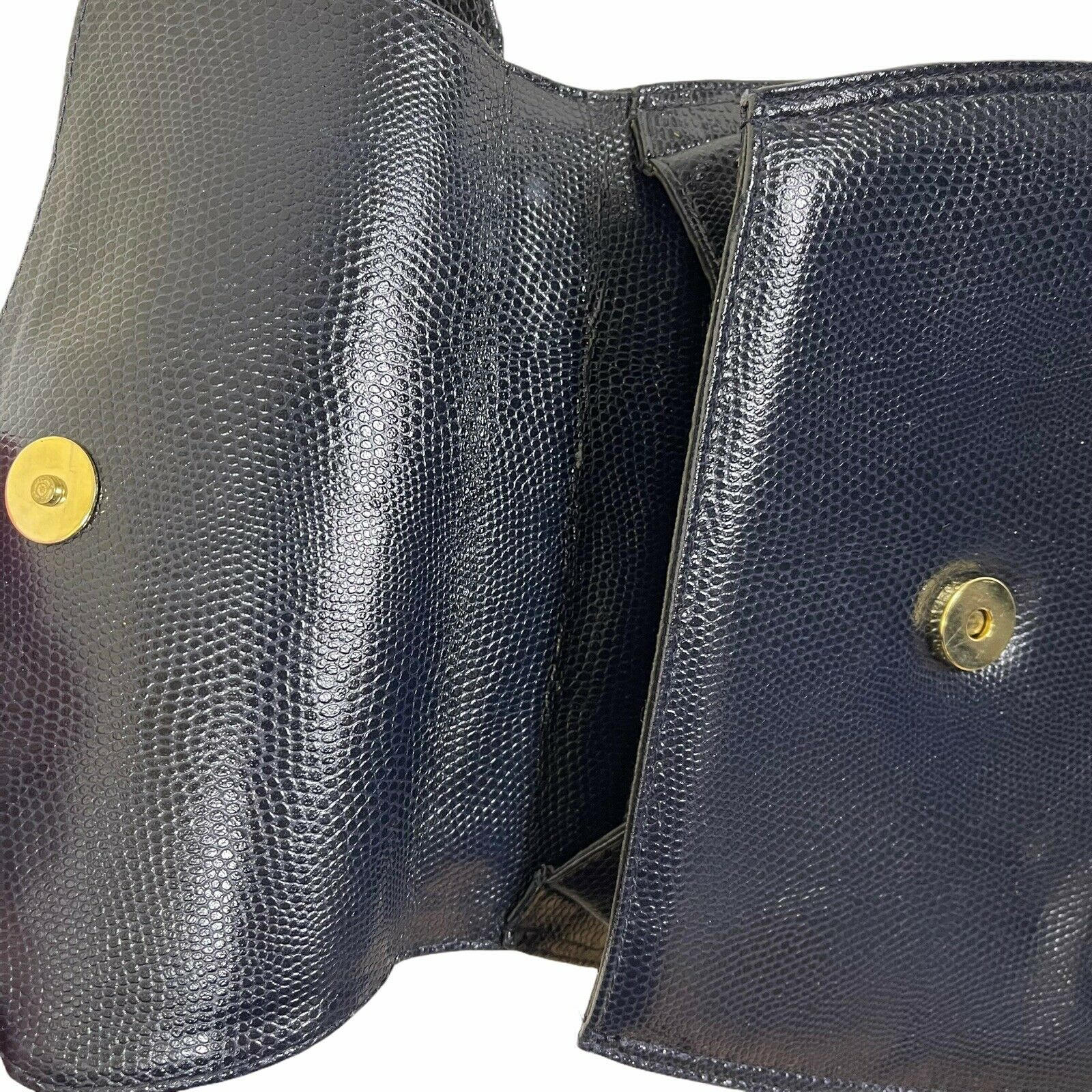 ARNOLD SCAASI NAVY LIZARD LEATHER WITH BOWS WOMEN… - image 6