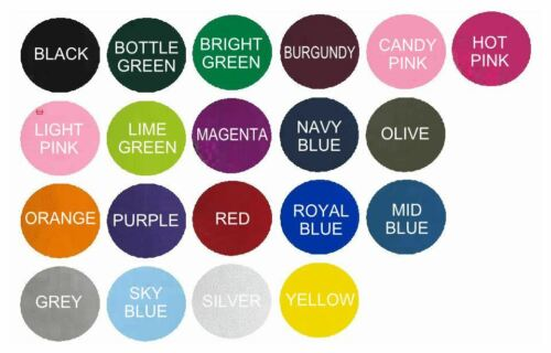 SEW ON PETAL SHAPE. PERSONALISED CRAFT PATCH EMBROIDERED ANY NAME TEXT COLOUR
