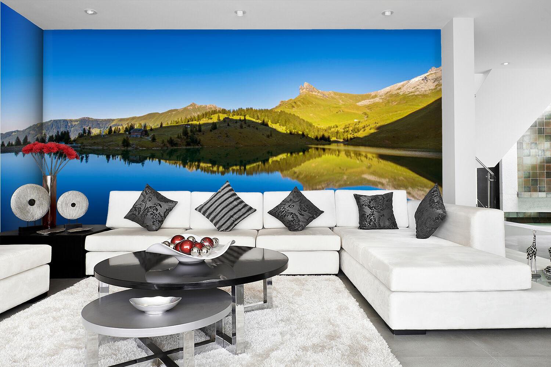 3D Sky Hills Lakes 839 Wallpaper Mural Paper Wall Print Wallpaper Murals UK