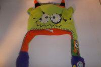 Flipeez Peek-a-boo Monster Hat Beanie Green One Size Fits All As Seen On Tv