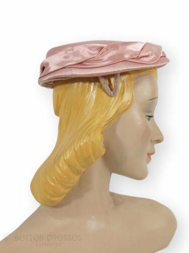 Vintage 50s Pink Satin Hat