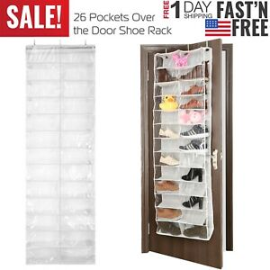 26-Pocket-Over-the-Door-Shoe-Organizer-Rack-Hanging-Storage-Space-Saver-Hanger