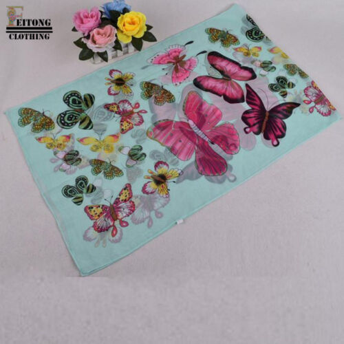Butterfly Print Neck Shawl Summer Scarf Scarves Wrap Stole Belt Gift Party UK