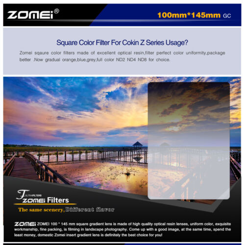 ZOMEI 150*100mm Neutral Density ND248+GND16 Filter+77mm Ring+Holder For Cokin Z