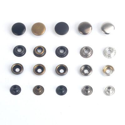 50pcs Heavy Duty Snap Fasteners 10//12.5//15//17mm Press Studs Kit Buttons W Tool