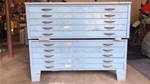 Vintage Blueprint Cabinet / Map Chest/ Flat File | eBay