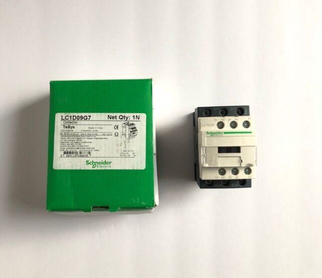 120VAC Schneider Telemecanique 1x New Power Contactor 9Amp 1NO+1NC LC1D09G7