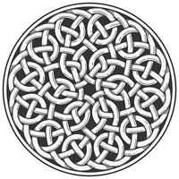 Celtic Knot Weave Illustration Graphic Poster Print 36x36