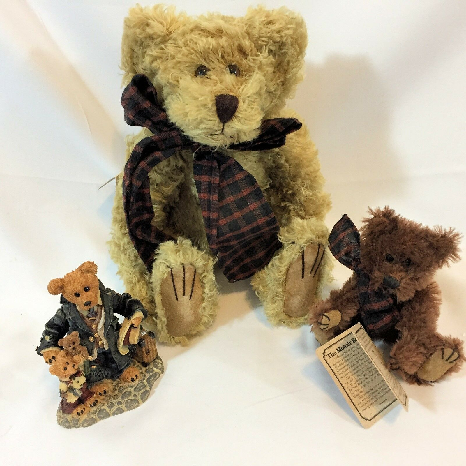 Boyds Bears 1st Mohair Bear Limited Edition Uncle Gus Honeybunch Bearstone Gift