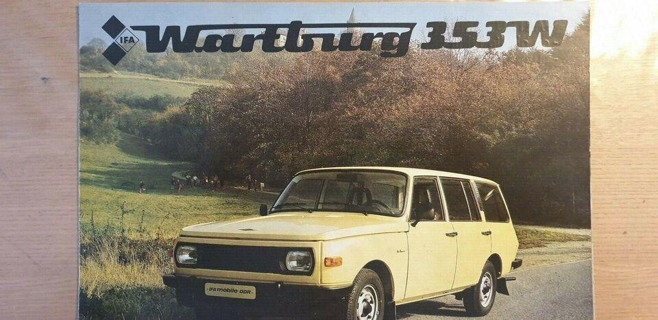 Brochure, Wartburg 353W