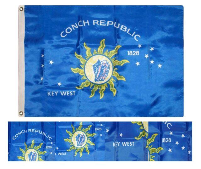 2x3 Key West Conch Republic Nylon 210D Flag 2/'x3/' Gift Set