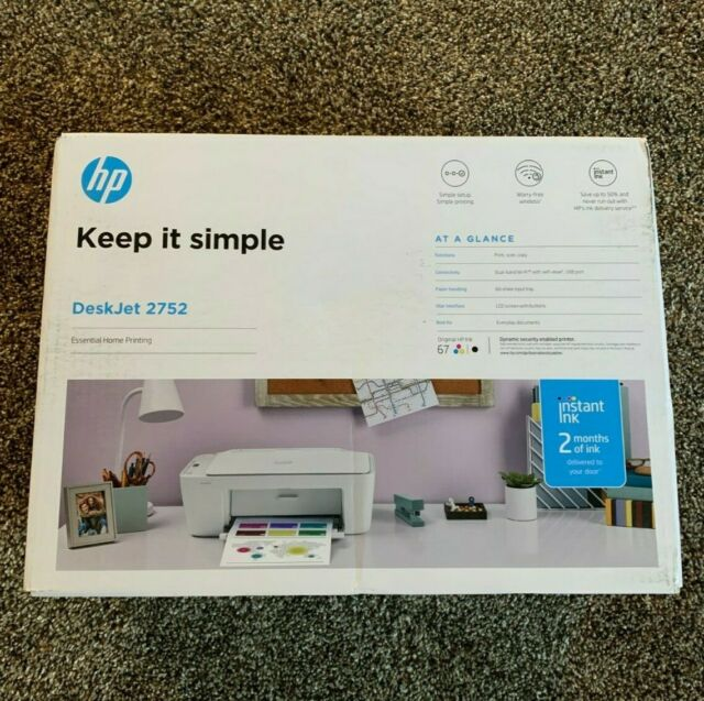 HP DeskJet 2752 Wireless All-in-One Color Inkjet Printer - Instant Ink Ready NEW