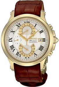 Seiko SPC070 SPC070P1 PREMIER Mens Chronograph Watch WR100m RRP $995.00
