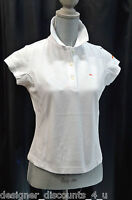 Ellesse Top Tennis Golf Sport Womens Shirt Polo Collar Naples White Size S